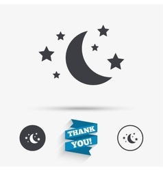 Moon and stars sign icon Sleep dreams symbol vector image