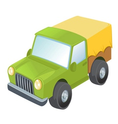 Toy army truck vector