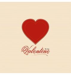 Valentine heart background with valentine message vector