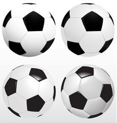 Set of soccer ball football on white background vector