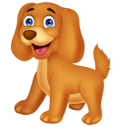 Cute puppy cartoon vector