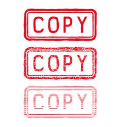 copy stamp red rectangular impress vector image