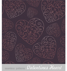 Valentine's hearts background vector image