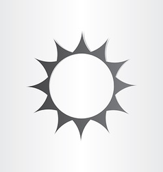 Stylized sun rays summer icon vector