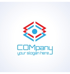 Transportation or packing company logo icon vector