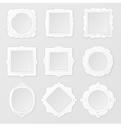 Patterned photo frame vector