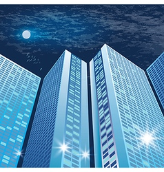 City architecture at night vector