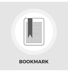 Bookmark flat icon vector