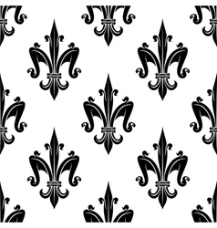 French victorian fleur-de-lis seamless pattern vector