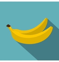 Banana icon flat style vector image vector image