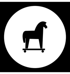 Black isolated trojan horse symbol simple icon vector