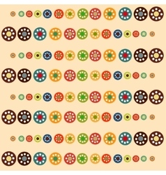 Bright circles baby seamless background vector image