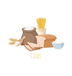 Carbohydrate food vector