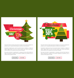 christmas sale off card vector image vector image