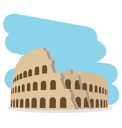 Coliseum isolated vector image vector image