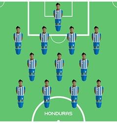 Computer game honduras football club player vector