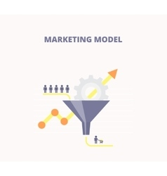 Concept of marketing model vector image