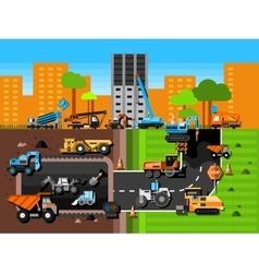 Construction machines composition vector