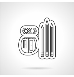 Drawing tools flat line icon vector image