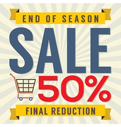End of season sale vintage vector