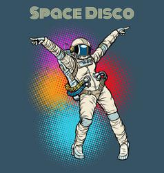 female astronaut dancing disco vector image vector image