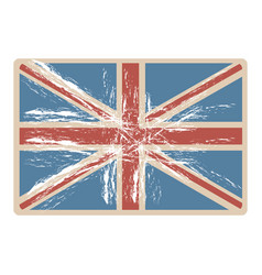 Flag united kingdom with opaque grunge texture vector
