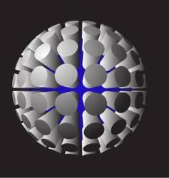 futuristic spheres vector image