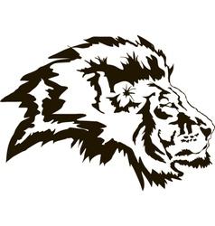 Head Lion Black vector image