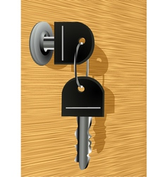 key in the lock vector image