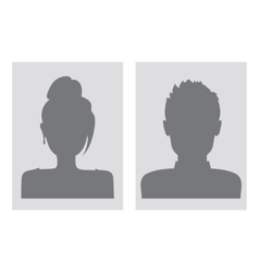 male and female avatars vector image