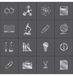 metal icons of a science vector image