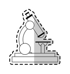 microscope science icon image vector image