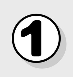 number 1 sign design template element vector image vector image