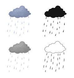 Scottish rainy weather icon in cartoon style vector
