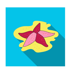 seastar icon in flat style isolated on white vector image vector image