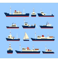 Ships set vector image