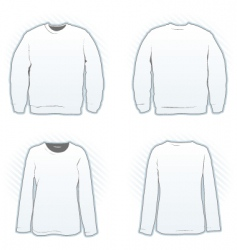 sweatshirt design template set vector image vector image