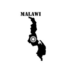 Symbol of malawi and map vector