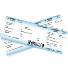 two boarding pass tickets vector image