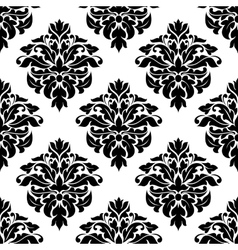 Victorian floral decorative seamless pattern vector