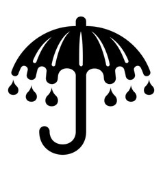 wet umbrella icon simple style vector image