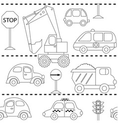 With different cars vector