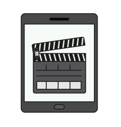 Isolated clapboard and tablet design vector