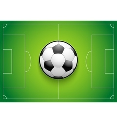 Poster template of football field and ball vector