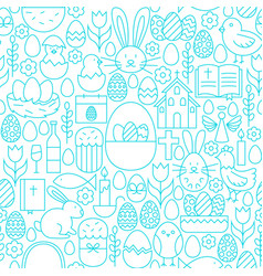 Easter line seamless white pattern vector