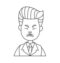 Businessman character sad people problem vector