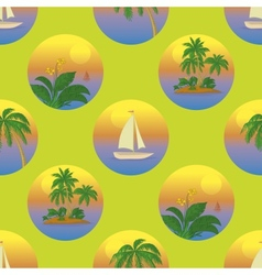 Seamless tropical background vector image
