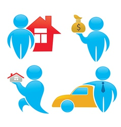 wealth and property vector image