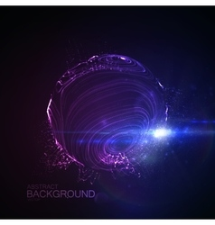 3D illuminated distorted sphere vector image