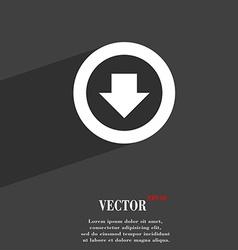 Arrow down download load backup icon symbol flat vector
